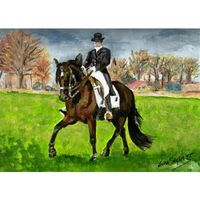 Olde Time Mercantile Alter Real Horse Portrait Matted Art Print - 5 in x 7 in Design - 8 in x 10 in Matted