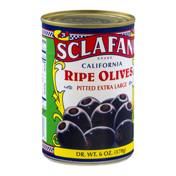 Sclafani California Ripe Olives Pitted Extra Large