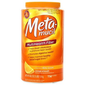 Metamucil MultiHealth Fiber Daily Supplement Powder Orange Smooth