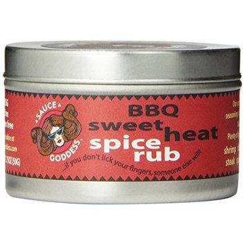 Sauce Goddess Gourmet LLC Sauce Goddess BBQ Sweet Heat Spice Rub, 1.75-Ounce Containers (Pack of 3)