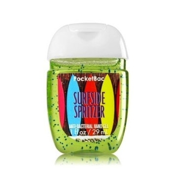 Bath & Body Works Surfside Spritzer Pocketbac - Lime, Lemon, Pineapple and Mint scented Bath & Body Works New Round Bottle Antibacterial Hand Sanitizer Gel