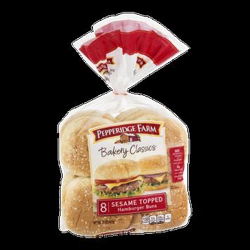 Pepperidge Farm Bakery Classics Sesame Topped Hamburger Buns - 8 CT