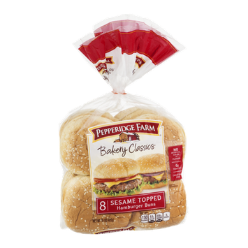 Pepperidge Farm Bakery Classics Sesame Topped Hamburger Buns - 8 CT