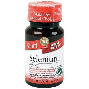 Schiff Selenium 200 Mcg Tablets, 60 Count