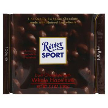 Ritter Sport Dark Chocolate with Whole Hazelnuts Bar 3.5 oz