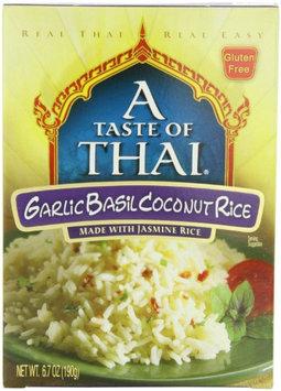 A Taste of Thai Garlic Basil Coconut Jasmine Rice, 6.7 oz Boxes, 6 pk