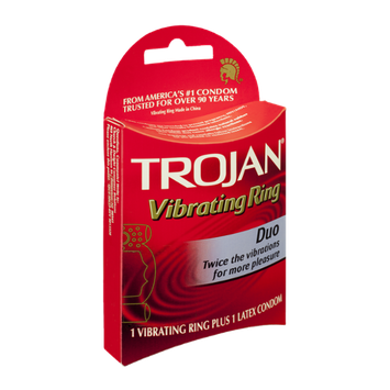 TROJAN™ Duo Vibrating Ring Plus Latex Condom