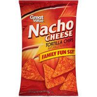 Wal-mart Stores, Inc. Great Value Nacho Cheese Tortilla Chips, 19 oz