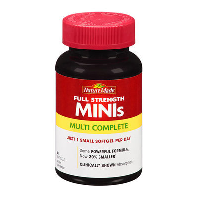 Nature Made Full Strength MINIs Multi Complete Softgels