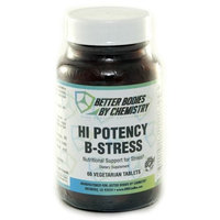 Better Bodies By Chemistry Hi-potency B-Stress Vegetarian Tablets, 60 Count