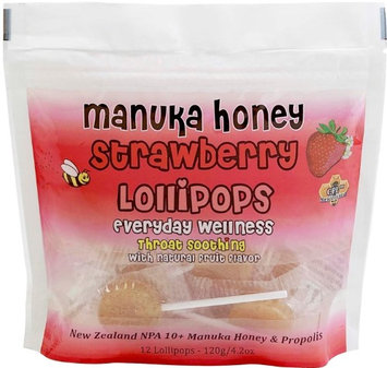 Children's Lollipops Lemon and Manuka Honey, 12 Count by Comvita