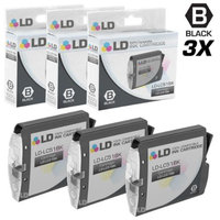 LD Compatible Replacements for Brother LC51BK 3PK Black Inkjet Cartridges for use in Brother DCP, Intellifax, and MFC Printers