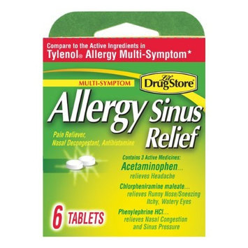 Lil' Drugstore Products Lil Drugstore Products Allergy Sinus Relief, 6-Count (Pack of 6)