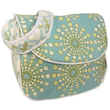 Hoohobbers Messenger Diaper Bag - Burst Seagrass - 1 ct.