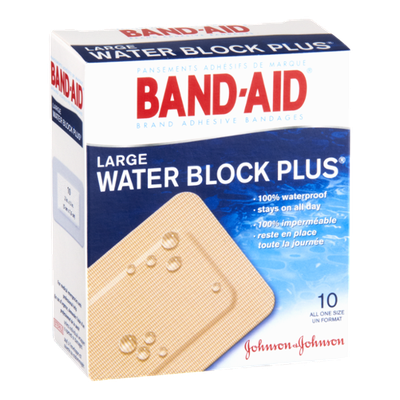 Band-Aid Brand Large Water Block Plus Adhesive Bandages - 10 CT