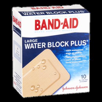 Band-Aid Brand Large Water Block Plus Adhesive Bandages - 10 CT