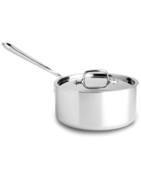 All Clad Stainless Steel 3qt Sauce Pan w/ Lid