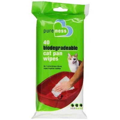 Pureness Cat Pan Wipes, 40 Count
