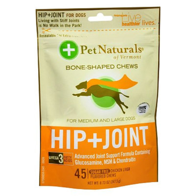 Pet Naturals Chicken Liver Hip/Joint Bone-Shaped Chews for M & Lg Dogs