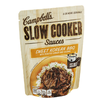 Campbell's Slow Cooker Sauces Sweet Korean BBQ with Roasted Ginger and Sesame