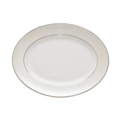 Lenox Opal Innocence Scroll Medium Oval Platter