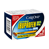 CareOne Ibuprofen Coated Caplets Pain Reliever/Fever Reducer - 50 CT