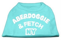Mirage Pet Products 5101 XSAQ Aberdoggie NY Screenprint Shirts Aqua XS 8