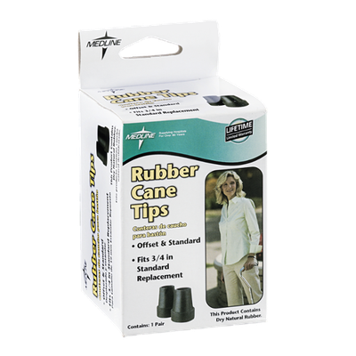 Medline Rubber Cane Tips