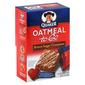 Quaker Oatmeal to Go Brown Sugar Cinnamon Bars 6 pk