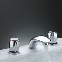 MAX Two Handles Chrome Widespread Waterfall Bathtub Faucet (0698 -Y3-8016)