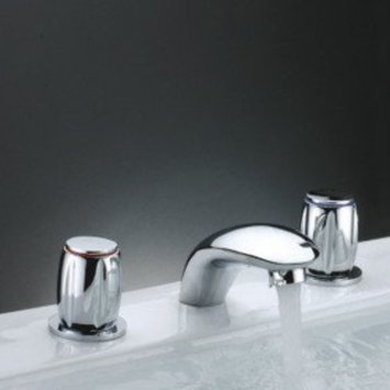 MAX Two Handles Chrome Widespread Waterfall Bathtub Faucet (0698 -Y3-8016)