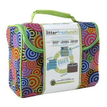 New Wave Enviro Litter Free Lunch Box w/containers, Pink, 1 ea