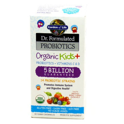 Garden of Life - Dr. Formulated Probiotics Organic Kids 5 Billion - 30 Chewables