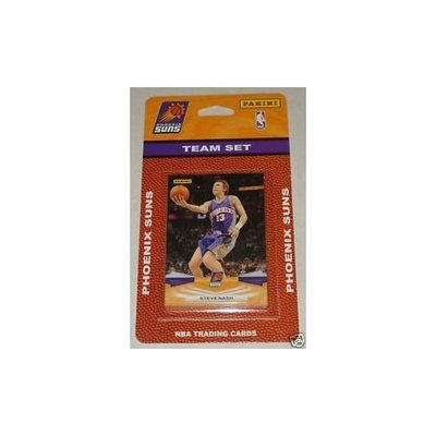 2009 10 Panini Basketball Phoenix Suns Complete Team Set of 14 cards including Aando Tucker, Sasha Pavolvic, Amare Stoudemire, Goran Dragic, Grant Hill, Jared Dudley, Jason Richardson, leandro Barbosa, Channing Frye, Steve Nash, 2 Earl Clark Rookies and 2 Taylor Griffin Rookies.