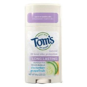 Toms Of Maine TOM'S OF MAINE Deodorant Stick Sensitive Care Cucumber Grapefruit 2.25 OZ
