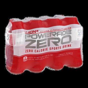 Powerade Zero Fruit Punch Zero Calorie Sports Drink - 8 PK