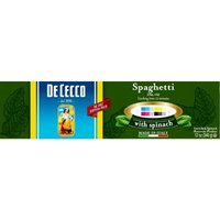 De Cecco Pasta, Spinach Spaghetti, 16-Ounce Boxes (Pack of 5)