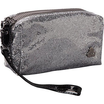 Clava Jazz Glitter Cosmetic Pouch Silver - Clava Ladies Cosmetic Bags