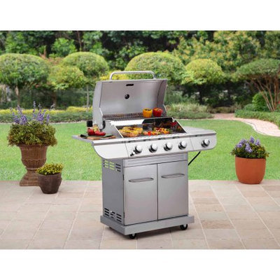 Generic Better Homes and Gardens Stainless Steel 4-Burner Gas Grill with Side Burner