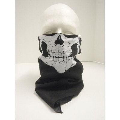 TAN 6 SKULL BANDANA , SKULL FACE MASK BANDANA - MINOR STITCHING FLAWS OR MINOR FLAWS- GREAT FOR PAINTBALL , ARMED FORCES AND I ASSURE YOU PEOPLE WILL NOT SEE THE DEFECT