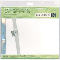 K & Company Postbound Page Protectors 12 inch x 12 inch
