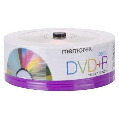 Memorex 4.7 GB DVD+R Discs 30 Pack Recordable Media - Silver
