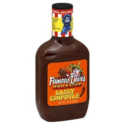 Famous Dave's BBQ Sauce Sassy Chipotle 19 Oz