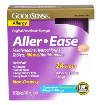 GoodSense Aller-Ease Fexofenadine Hydrochloride Tablets, 180 mg/Antihistamine, 45-count