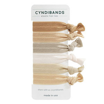 Cyndibands CyndiBands Set of 6 Hair Ties, Blonde, 1 ea