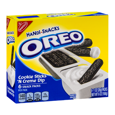 Oreo Handi-Snacks Packs Cookie Sticks 'N Creme Dip