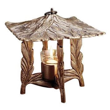 Whitehall Products Pinecone Twilight Lantern, French Bronze