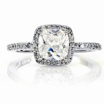 Emitations Liezels Engagement Ring Cushion Cut CZ