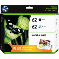HP 62 Paper and Ink Multi-Color Cartridge Bundle (F6U00FN#140)