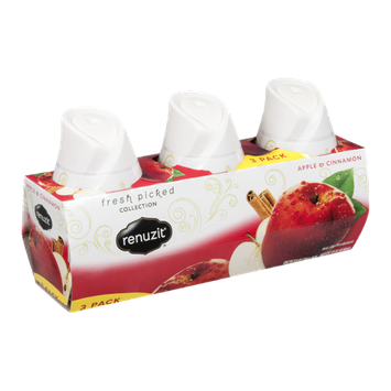 Renuzit Fresh Picked Collection Gel Air Freshener Apple & Cinnamon - 3 CT